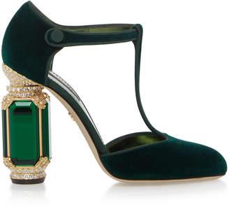 Dolce & Gabbana Jewel Embellished Velvet Pump