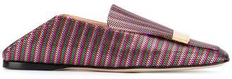 Sergio Rossi woven-style loafers