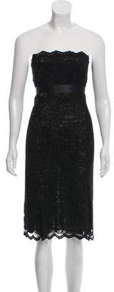 Charles Chang-Lima Strapless Lace Dress