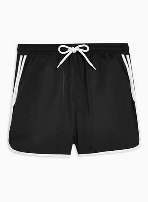 Topman Mens Black Runner Swim Shorts