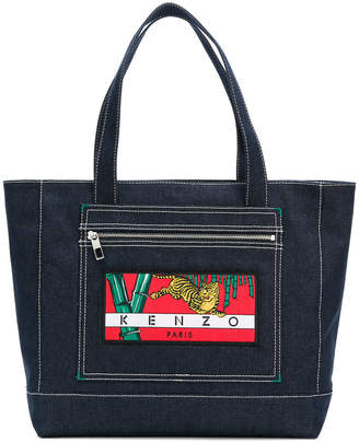 Kenzo tiger patch tote