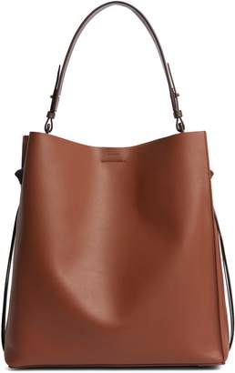 AllSaints Voltaire North/South Leather Tote