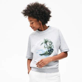 Lacoste Women's Crew Neck Light Fleece Sweatshirt