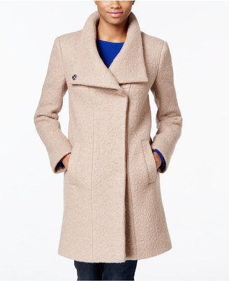 Kenneth Cole Wool-Blend Asymmetrical Walker Coat $275 thestylecure.com