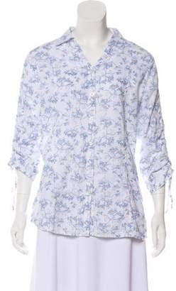 Woolrich Printed Collared Top