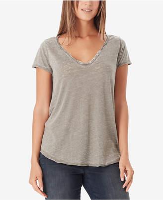 William Rast Cooper Button-Trim T-Shirt