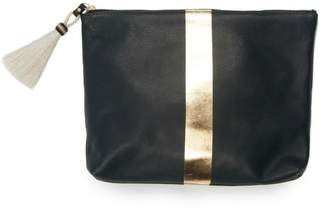 Co Kempton & Navy/gold Leather Clutch