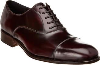 Salvatore Ferragamo Cap Toe Leather Oxford
