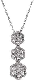 Lord & Taylor 0.5 TCW Diamonds and White Gold Tiered Pendant Necklace