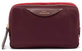 Anya Hindmarch Stack Triple Make Up Bag - Womens - Burgundy Multi