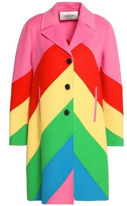 4f5153fc70b3 Valentino Color-block Wool And Cashmere-blend Felt Coat