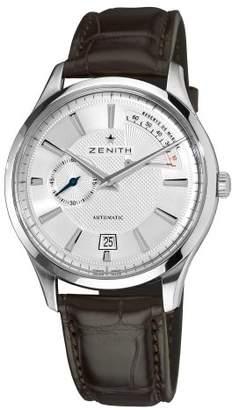 Zenith Men's 03.2120.685/02.C498 Elite Captain Power Reserve Silver Dial Watch