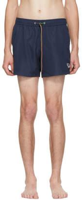 Paul Smith Navy Zebra Logo Swim Shorts