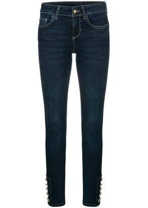 Liu Jo button ankle skinny jeans