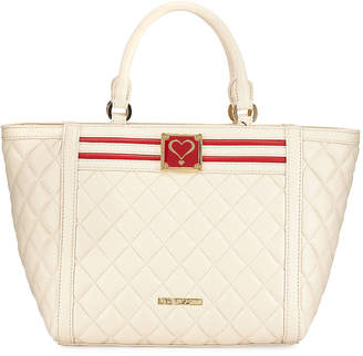 Love Moschino Quilted Faux-Leather Top Handle Bag
