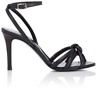 Barneys New York Women's Knotted Leather Ankle-Strap Sandals