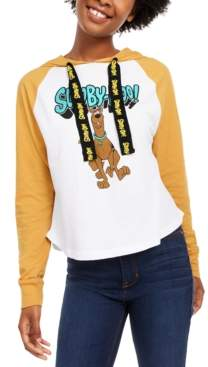 Scooby-Doo Modern Lux Juniors' Raglan-Sleeve Hoodie