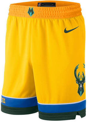 Nike Men Milwaukee Bucks City Swingman Shorts