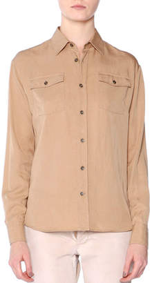 Tomas Maier Long-Sleeve Button-Front Shirt, Chino