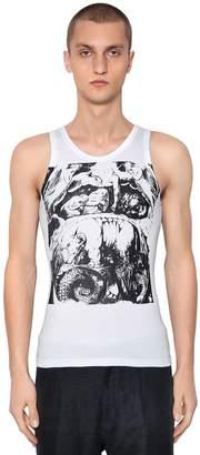 Ann Demeulemeester Printed Cotton Jersey Tank Top
