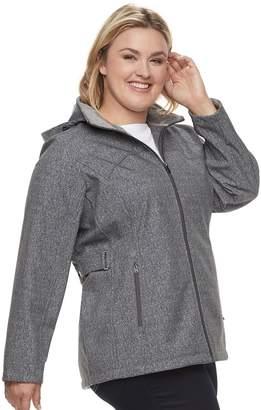 ZeroXposur Plus Size Britney Soft Shell Hooded Jacket