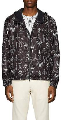Fendi Men's Bug-Print Hooded Jacket