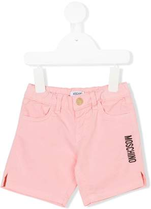 Moschino Kids embroidered logo shorts