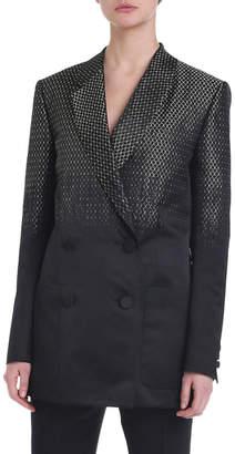 Fendi Jacquard Ombre Double-Breasted Jacket
