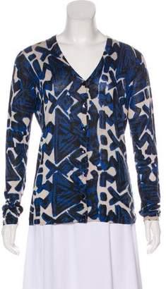 Fuzzi Knit Printed Cardigan