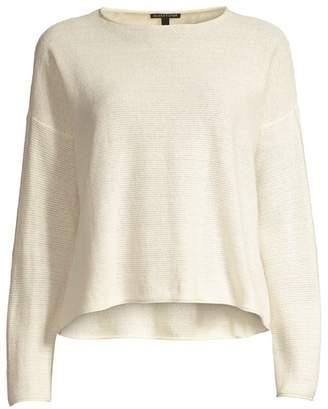 Eileen Fisher Reclaimed Hemp & Organic Cotton Blend Pullover