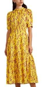 Ulla Johnson Women's Corrine Floral Silk Dress - Yellow