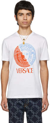 Versace White Half Medusa T-Shirt