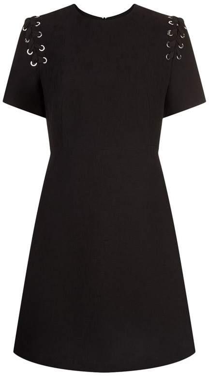 Lace-Up Detail Dress