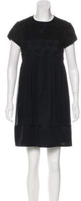 Burberry Lace-Trimmed Mini Dress
