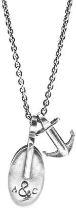 Anchor And Crew London Silver Pulley Necklace Pendant