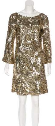 Marchesa Sequined Mini Dress