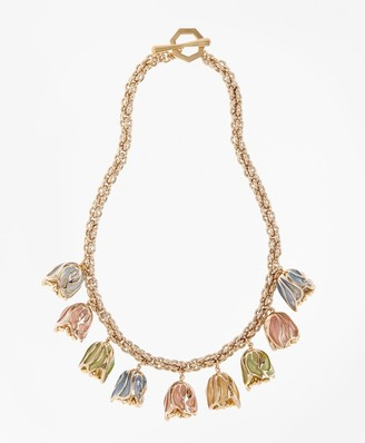 Brooks Brothers Rosebud Necklace