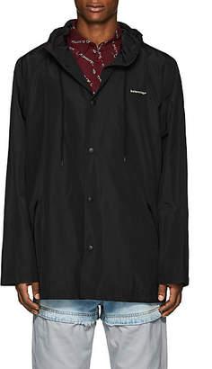 Balenciaga Men's Logo Rain Jacket - Black