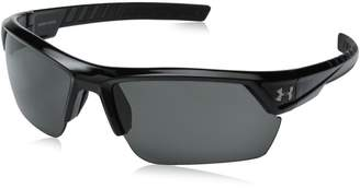 Under Armour Igniter 2.0 Shiny Black Frame, with Black Rubber and Gray Lens