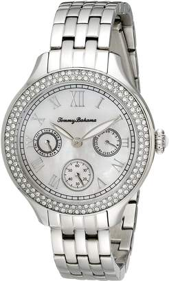 Tommy Bahama Women's 10018329 Waikiki Dream Multifunction Crystal-Accented Stainless Steel Watch