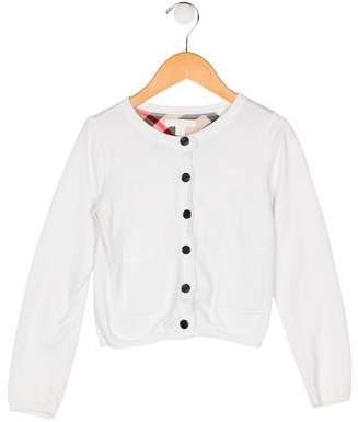 Burberry Girls' Button-Up Cardigan