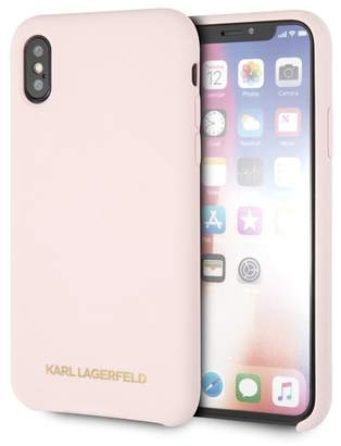 Karl Lagerfeld Pink Silicone Soft Touch iPhone X\u002FXS Case