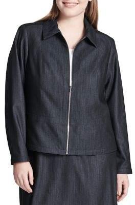 Calvin Klein Plus Dressy Denim Jacket