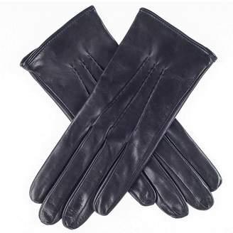 Black Ladies' Silk Lined Leather Gloves