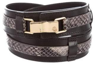 Tory Burch Leather Embossed Belt