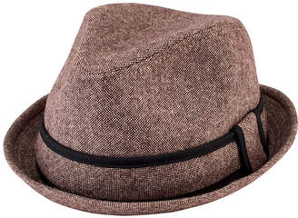 San Diego Hat Company Tweed Fedora with Trim