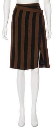 By Malene Birger Striped Knee-Length Skirt