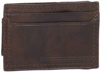 Dockers Front Pocket Wallet with Money Clip,Brown Plaque