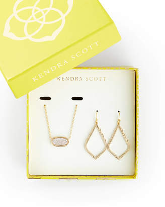 Kendra Scott Sophia Earrings and Elisa Necklace Set in Drusy