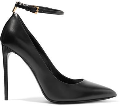 TOM FORD - Embellished Leather Pumps - Black